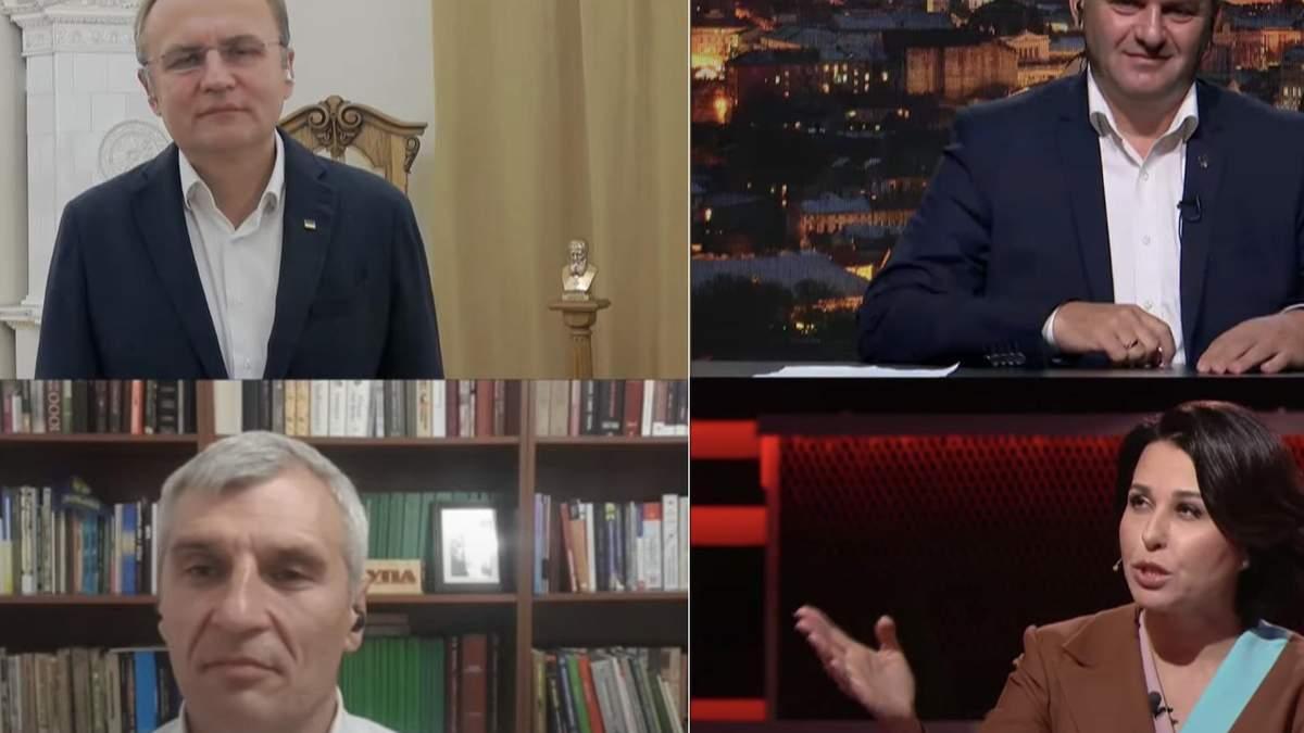 Кандидати у мери Львова поговорили після сварки Дубінського й Притули