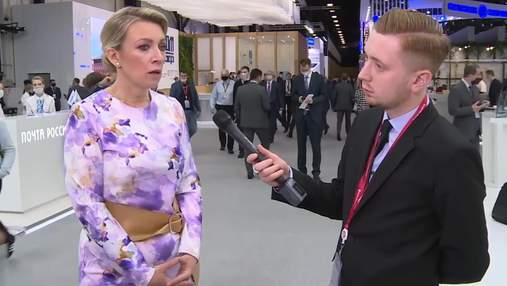 Шарій опублікував інтерв'ю з представницею МЗС Росії Захаровою і нарвався на красномовну реакцію